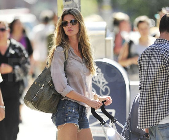 Slide Picture of Gisele Bundchen With Baby Ben in NYC