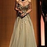 She was shocked upon winning an award at the CMAs in November 2009.