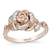 Enchanted Belle Diamond Rose Gold Rose Ring