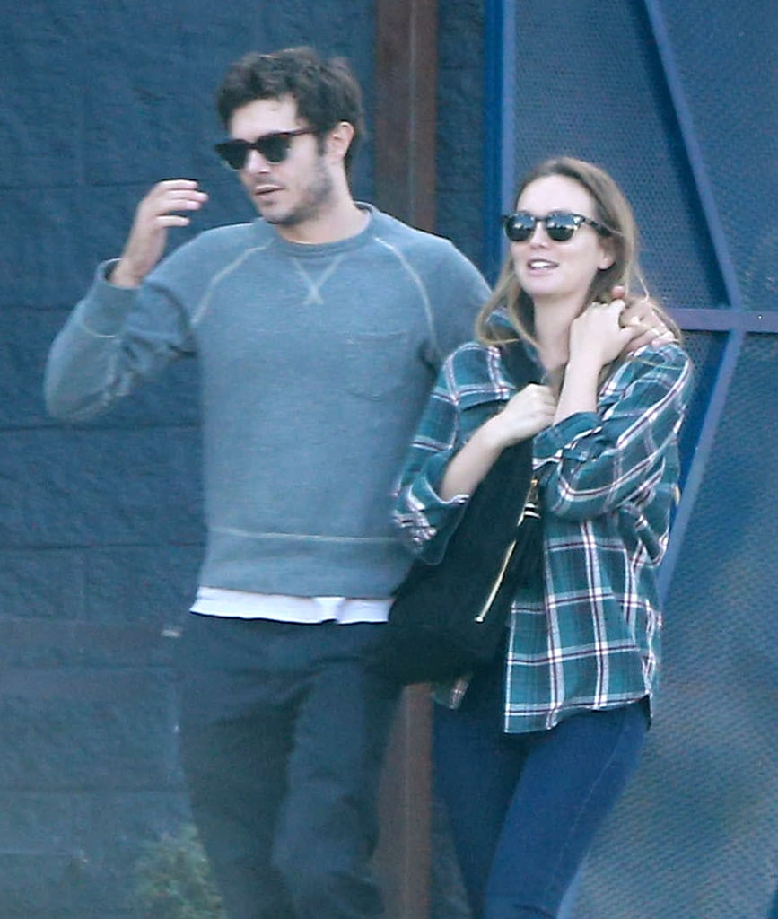 Adam Brody and Leighton Meester have been keeping a low profile for the last few months, but on Monday, the pair was spotted grabbing breakfast in LA. Although their 1-year-old daughter Arlo wasn't with them this time around, the duo showed subtle but sweet PDA as Adam wrapped his arm around Leighton and they walked along the sidewalk. Adam currently stars in the show StartUp, while Leighton has been busy filming her latest project, Making History, so hopefully we'll get to see more of the couple in the months to come.       Related:                                                                                                           You Guys, Blair Waldorf and Seth Cohen Are Parents!