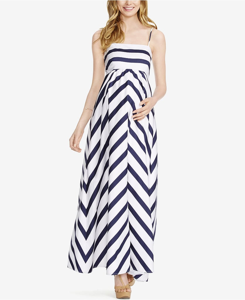 Jessica Simpson Maternity Striped Maxi Dress ($71, originally $89)