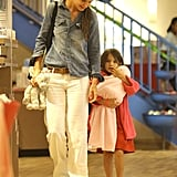 Suri Cruise and Katie Holmes were hand in hand for a shopping trip in NYC.