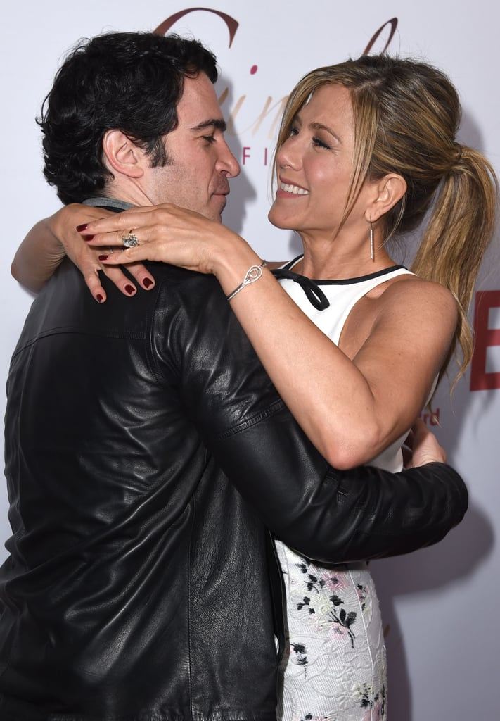 Jennifer and her Cake costar Chris Messina got chummy on the red carpet at the film's LA premiere in January 2015.