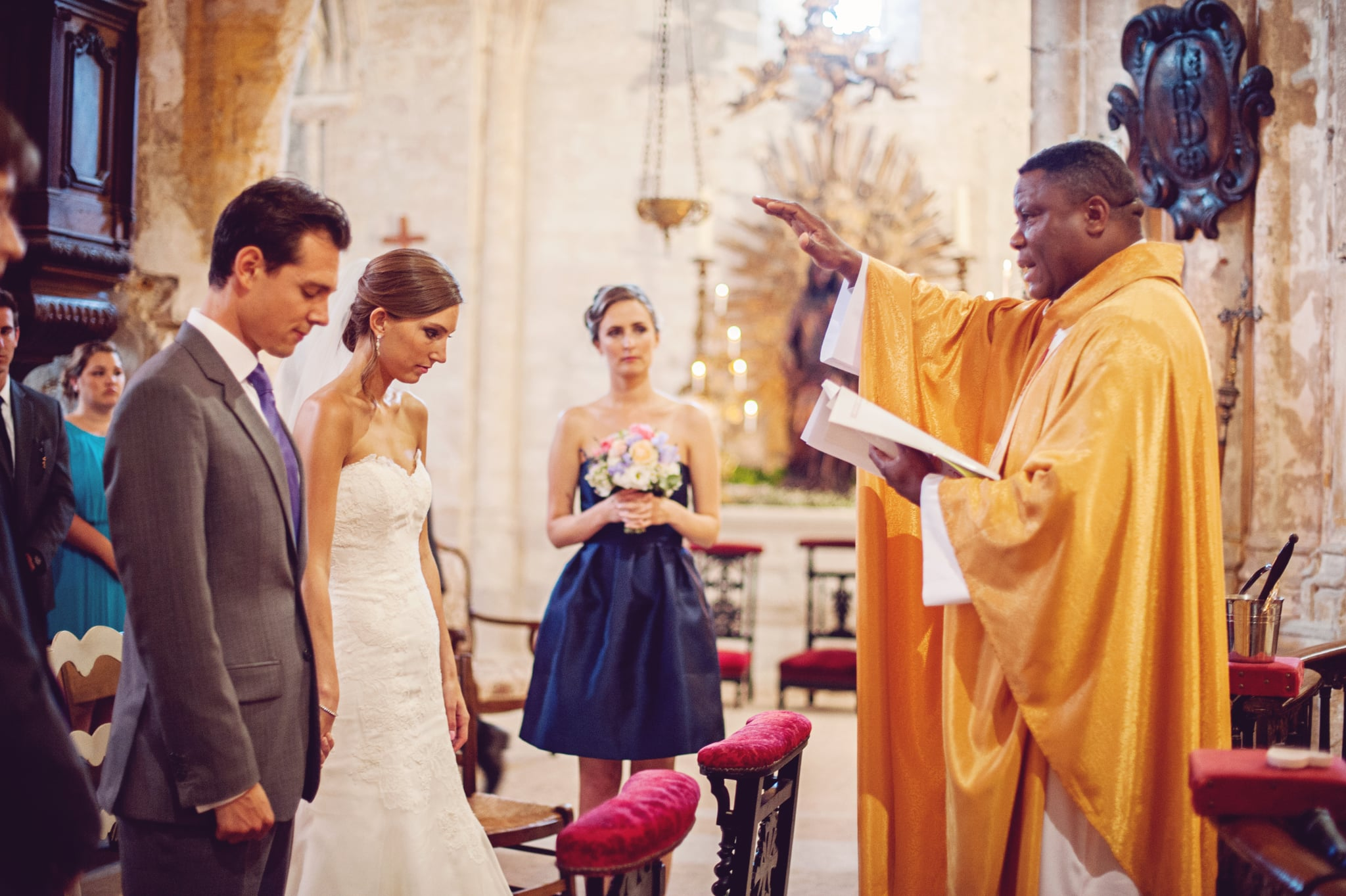 Ceremony Blessing in the Church