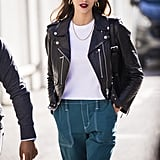 Style Your T-Shirt With: A Leather Jacket and Pants