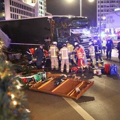 Truck Crashed Into Berlin Christmas Market 2016