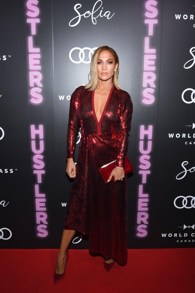 Jennifer Lopez at the Hustlers Post-Screening Event