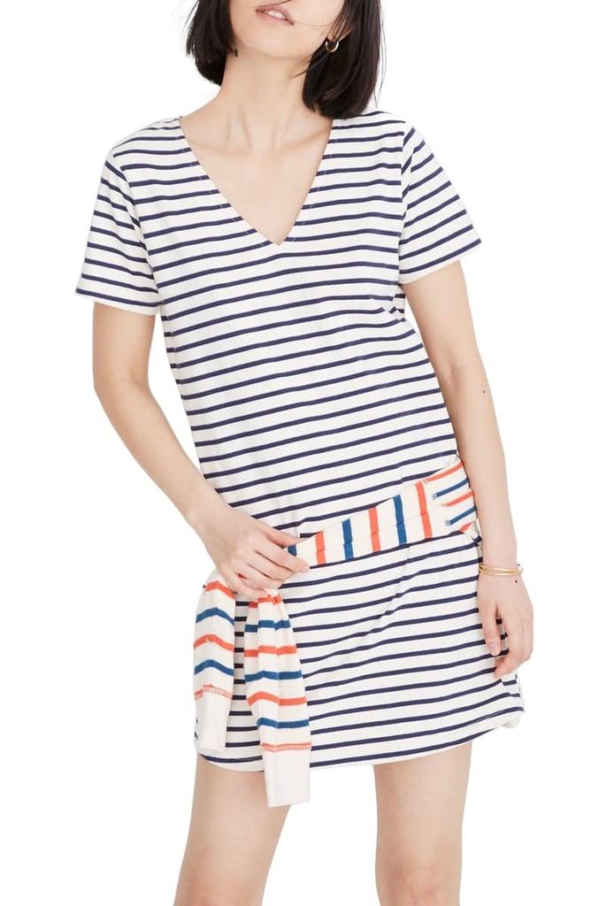 Madewell Yorktown Strip Relaxed T-Shirt Dress