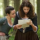 Claire (Caitriona Balfe) reads a letter.