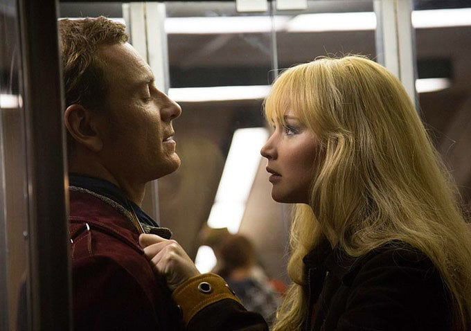 Michael Fassbender and Jennifer Lawrence