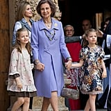 Princess Leonor and Infanta Sofía in 2014