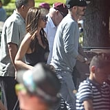 David Beckham and Victoria Beckham enjoyed an afternoon with their gang at Disneyland.