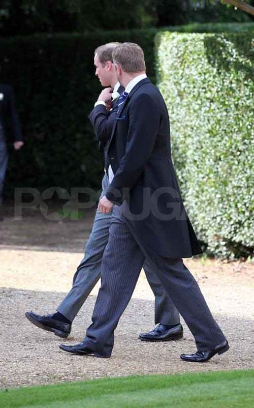 Prince William attends a friend's wedding.