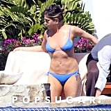 Jennifer hit the pool while vacationing in Cabo in February 2017.