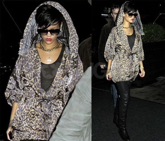 Rihanna in Leopard