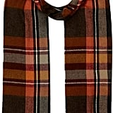River Island Mens Orange Tartan Woven Scarf (£15)