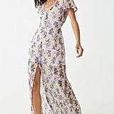 Floral Print Lace Maxi Dress