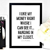 Poster Carrie Bradshaw Quote