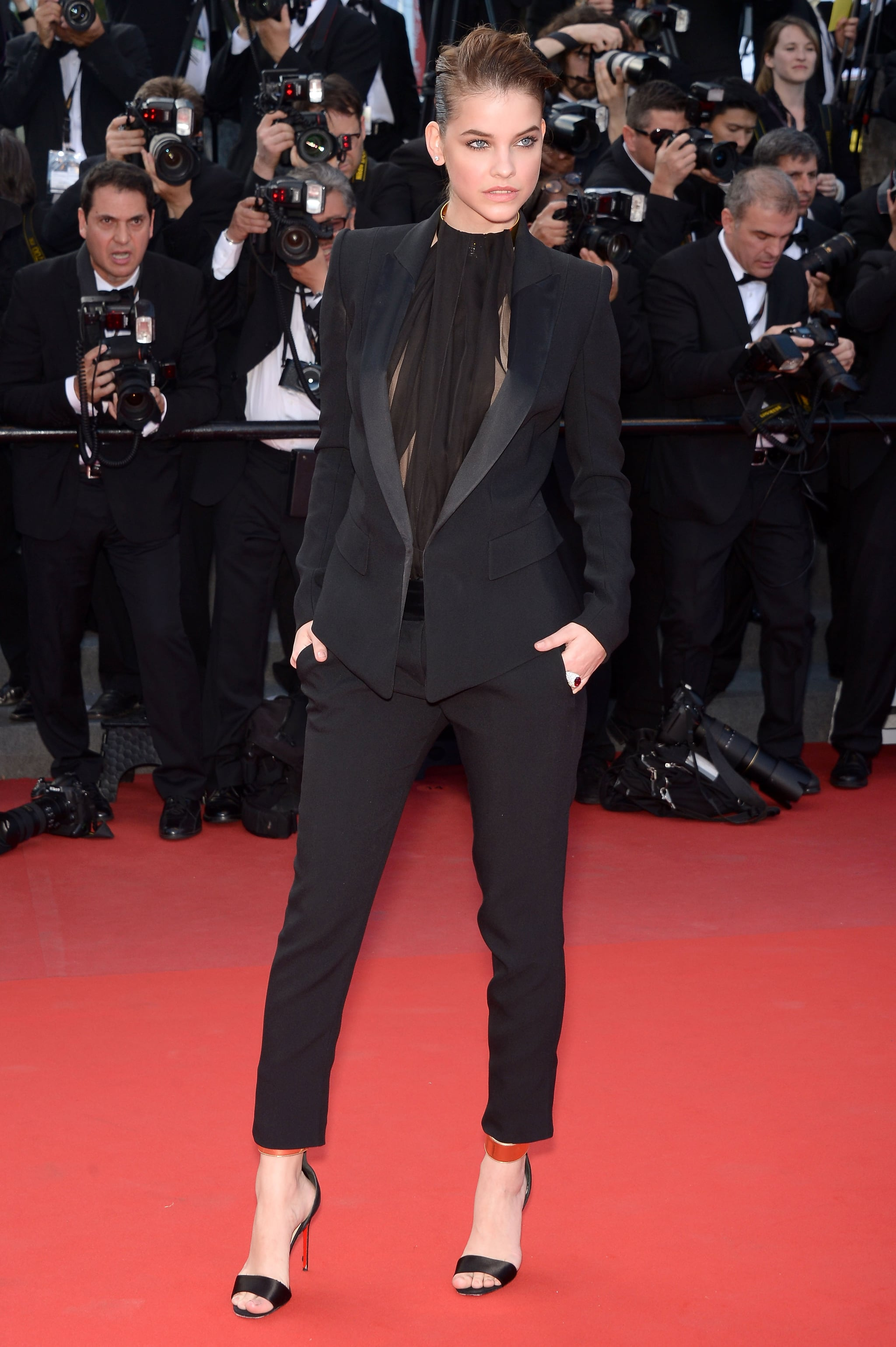 Barbara Palvin wore Alexandre Vauthier at the Cannes premiere of Cleopatra.