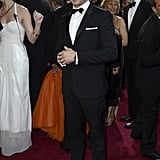 Jeremy Renner stepped out in a tux for the Oscars.