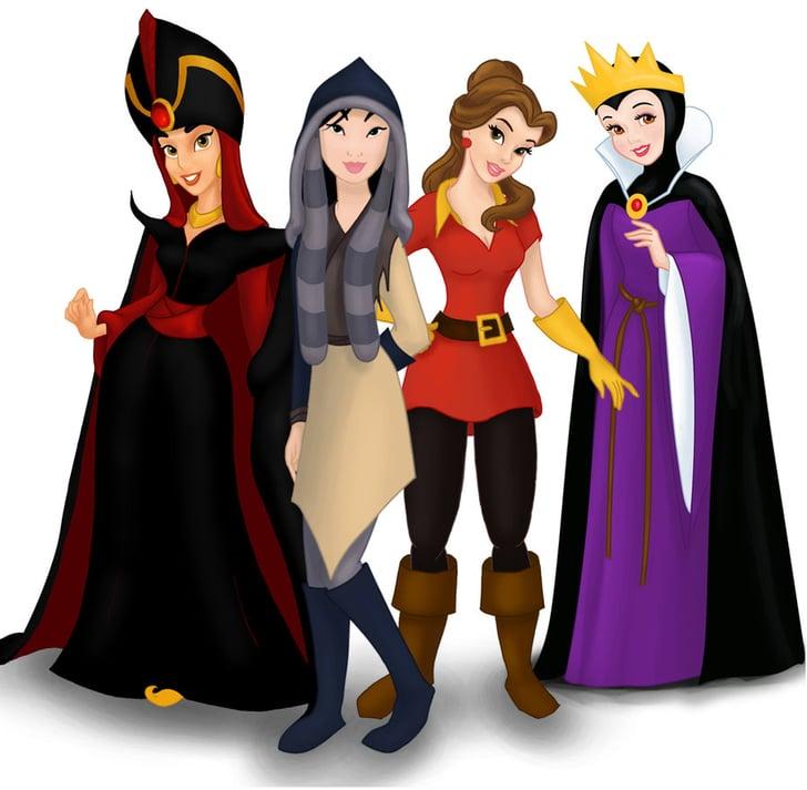 Jasmine, Mulan, Belle, and Snow White   These Disney ...