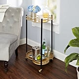Felicity Two-Tier Clover Bar Cart Gold