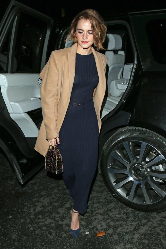 Emma Watson Carrying A Sparkly Bag Popsugar Fashion