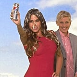 Taping a Diet Pepsi Commercial