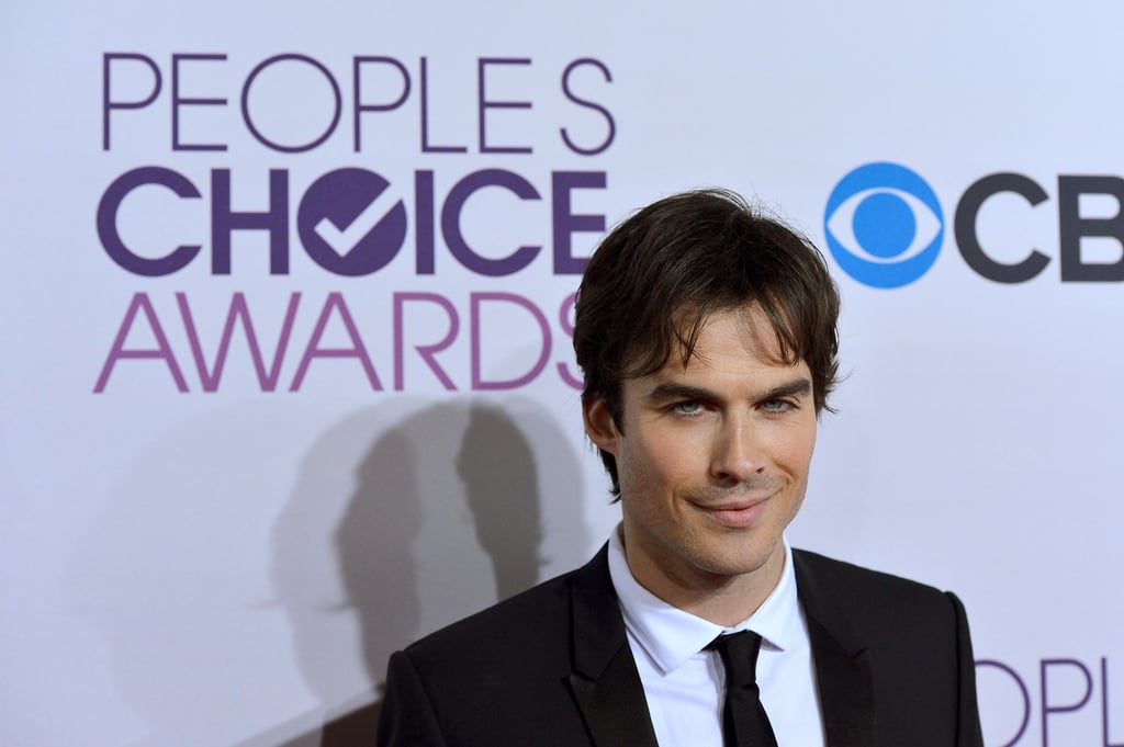Ian Somerhalder had a sexy smile on his face.