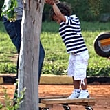 Jennifer Lopez Has Her Two Biggest Fans Max and Emme Along For a Day of Shooting