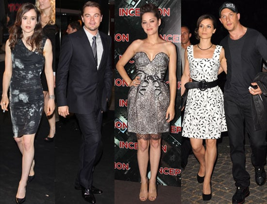 Inception Cast in Paris For Premiere, Leonardo DiCaprio, Tom Hardy, Ellen Page, Cillian Murphy 2010-07-12 16:30:52