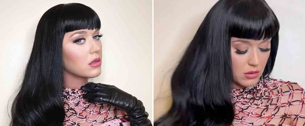 Katy Perry's Black Hair Colour and Bangs For American Idol