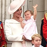 "Kate loved watching Charlotte thoroughly enjoy Trooping the Colour.      Related:                                                                                                           Kate Middleton Shares Her Favorite ""Simple"" Motherhood Moment, and Yup, We Totally Agree!"