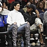 Kendall Jenner made sure to get the most out of her $10,000 Saint Laurent boots by wearing them twice: first to her birthday dinner, then to a basketball game where her rumored beau was playing.