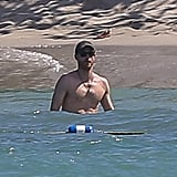 Prince Harry Shirtless on the Beach in Jamaica March 2017