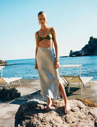 Shop the Best ASOS Satin Bias Cut Skirts