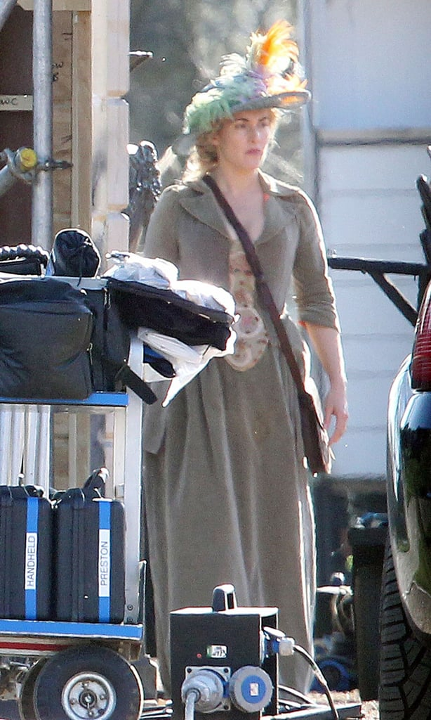 Kate Winslet was in costume for A Little Chaos.