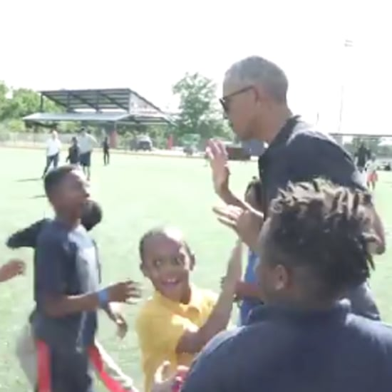 Barack Obama Playing With Kid Athletes May 2019