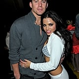 Jenna wrapped her arms around her man during a November 2009 philanthropic event in LA.