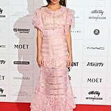Choosing Chanel Haute Couture, Alicia channelled Molly Ringwald and was pretty in pink at the British Independent Film Awards in London,  2012.