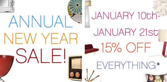 Sale Alert: Velocity Art and Design Annual New Year Sale