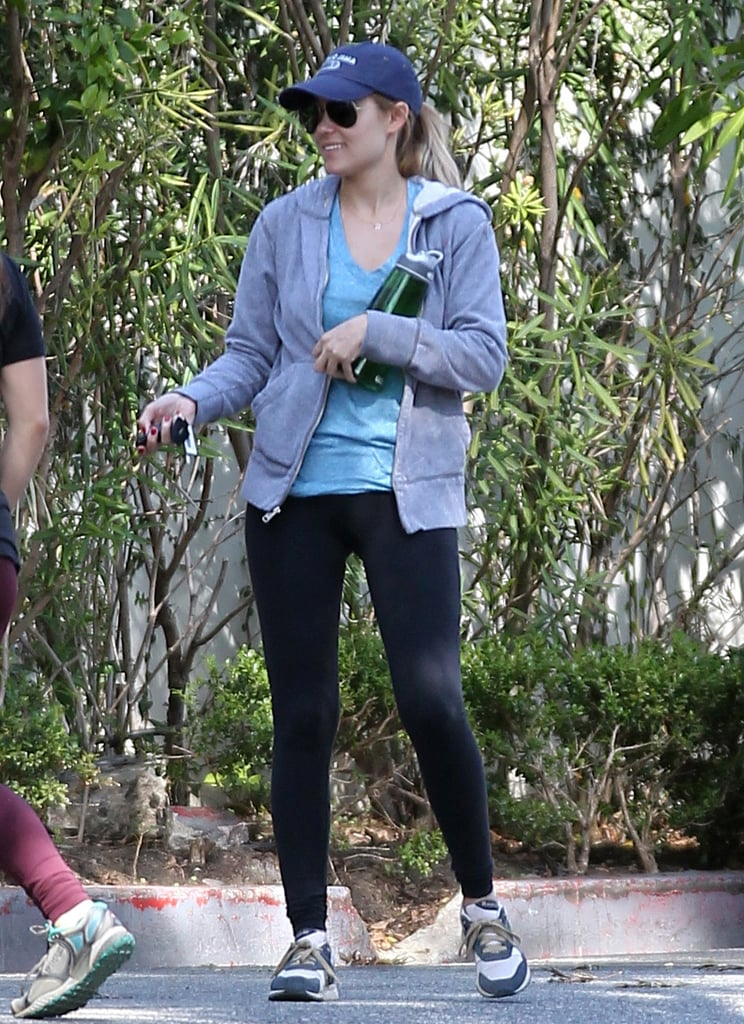 Lauren Conrad carried a water bottle on her birthday hike.