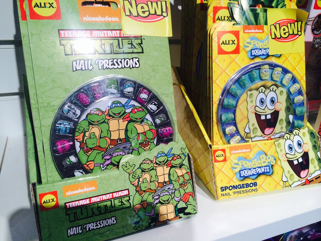 SpongeBob and Teenage Mutant Ninja Turtles Nail Art | New Toys From ...