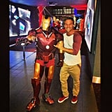Lincoln Lewis was pumped about his Iron Man 3 screening. Source: Instagram user linc_lewis