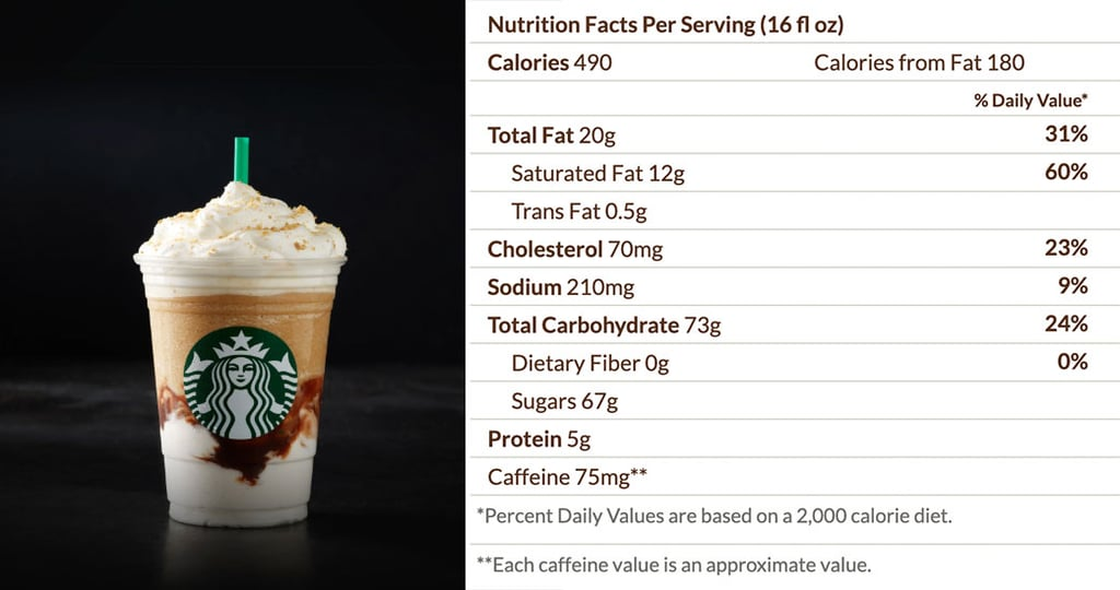 Starbucks S'mores Frappuccino Nutritional Info