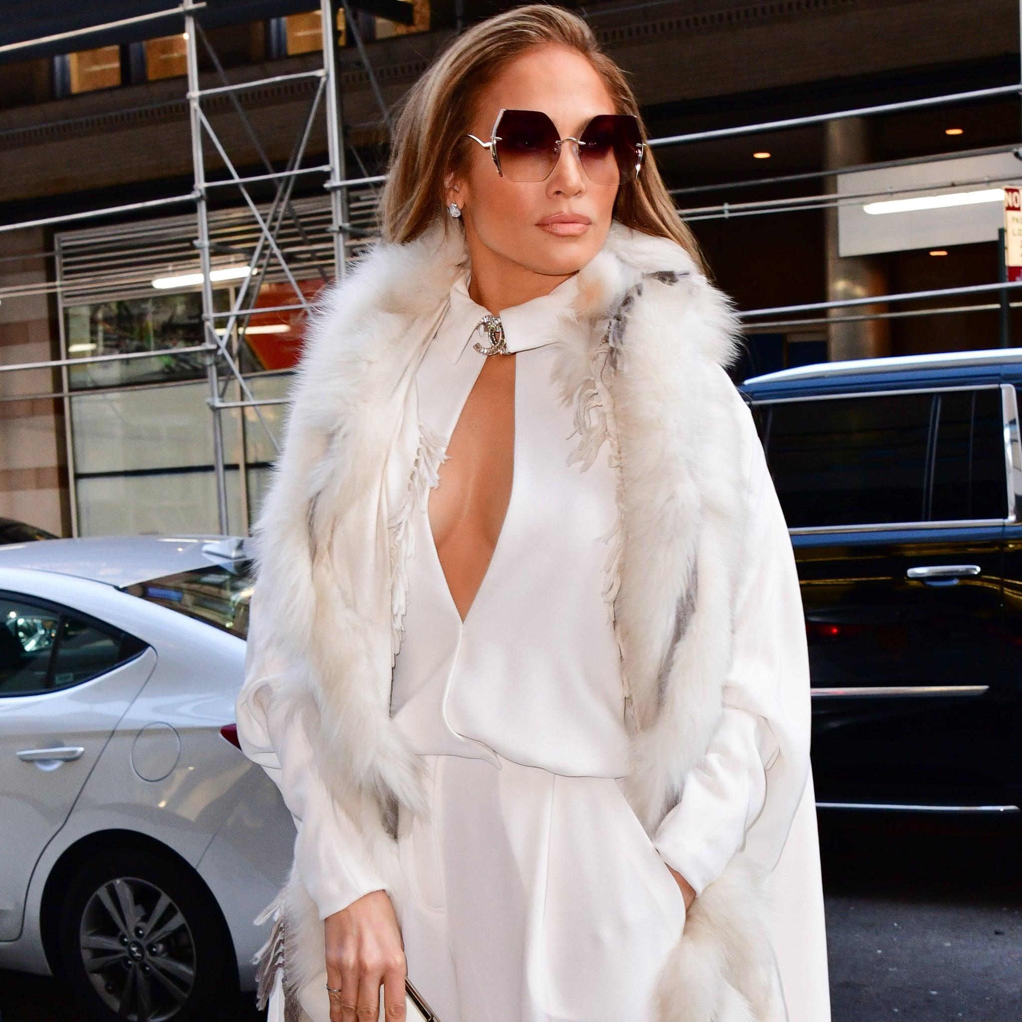 Jennifer Lopez S White Chanel Jumpsuit Dec 2018 Popsugar Fashion