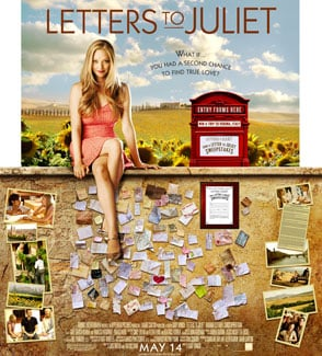 Exclusive Artwork Featuring Amanda Seyfried in Letters to Juliet