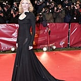 Cate turned out yet another amazing gown at the Berlin International Film Festival. This time it was black with a dramatic train fit for a red carpet queen.