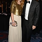 The couple dressed up for a ball in London.