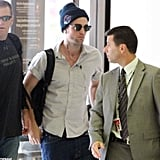 Robert Pattinson was at the airport in Sydney.